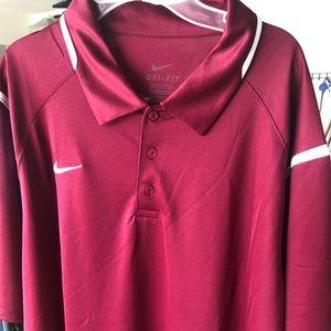 Polo shirt deep red/maroon